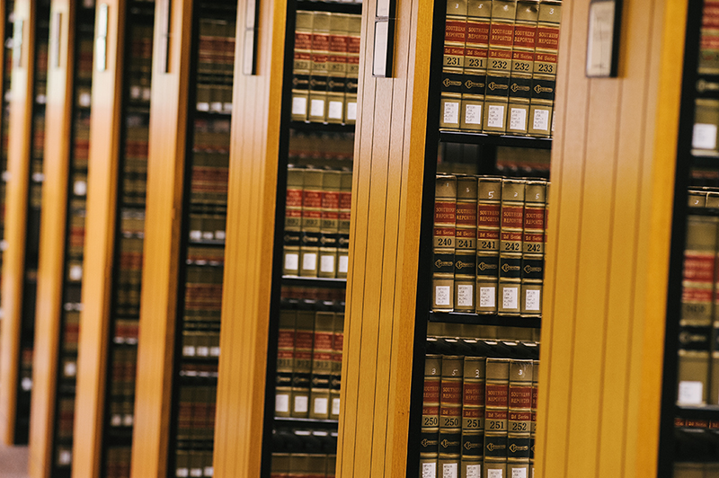 Law Books in the Stetson Library Stacks